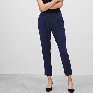 Aritzia Babaton Cohen pant navy cropped trouser